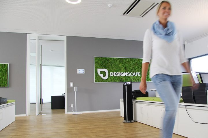 Moosbild mit Logo von DESIGNSCAPE