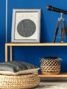 Orientalisches Schlafzimmer Silber Blau