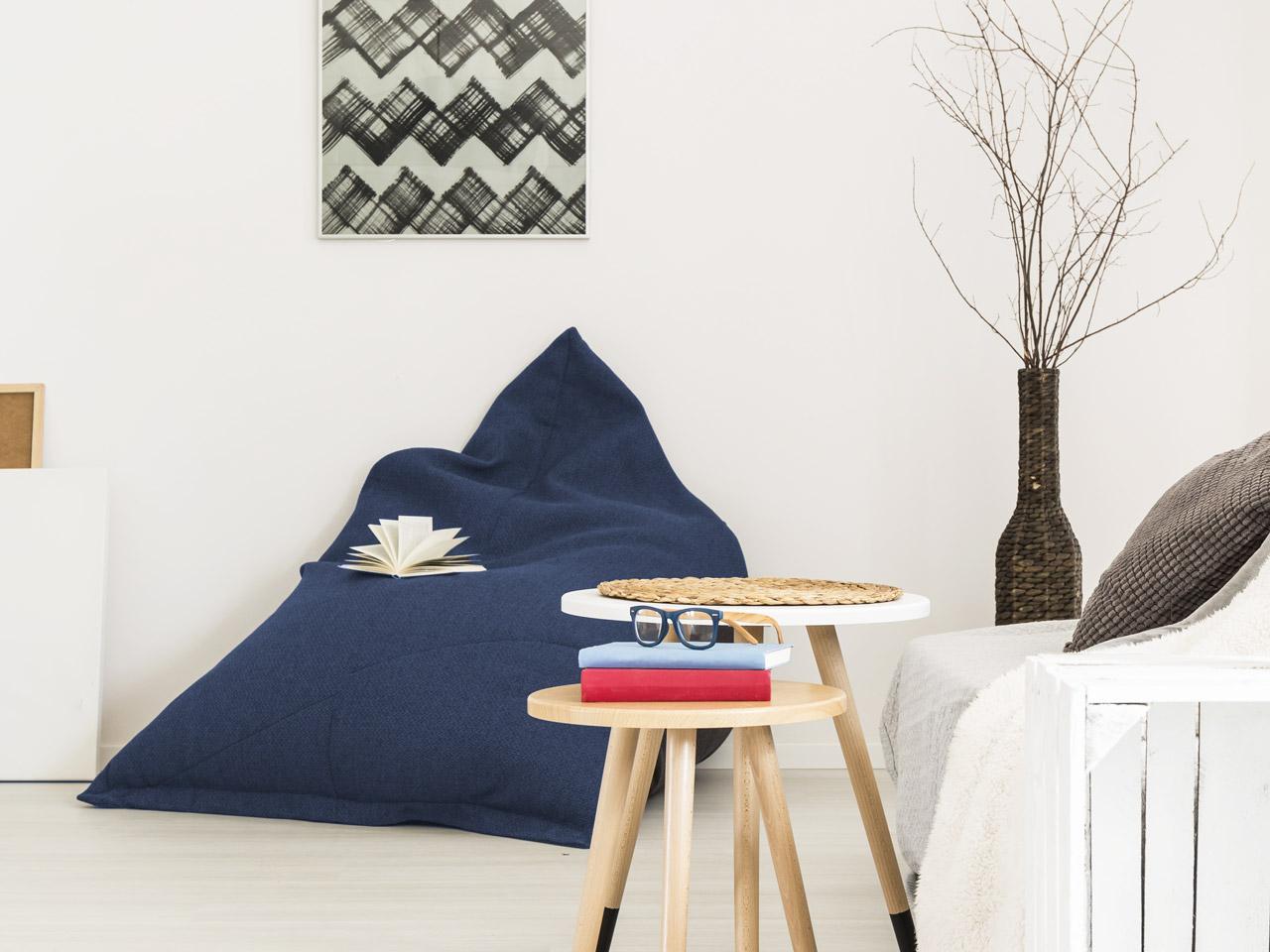Sitzsack blau modern