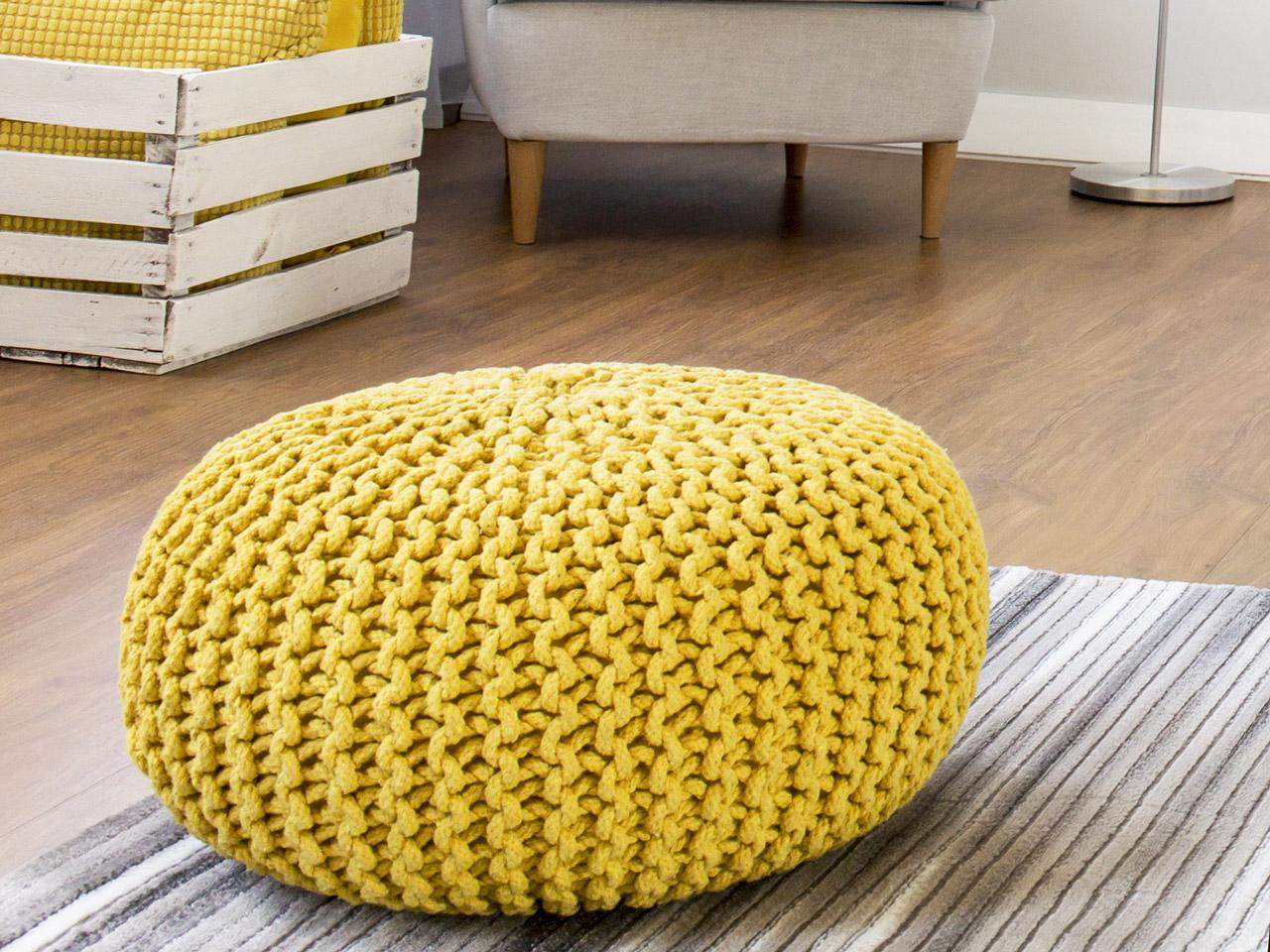 Sitzsack hockerform gelb
