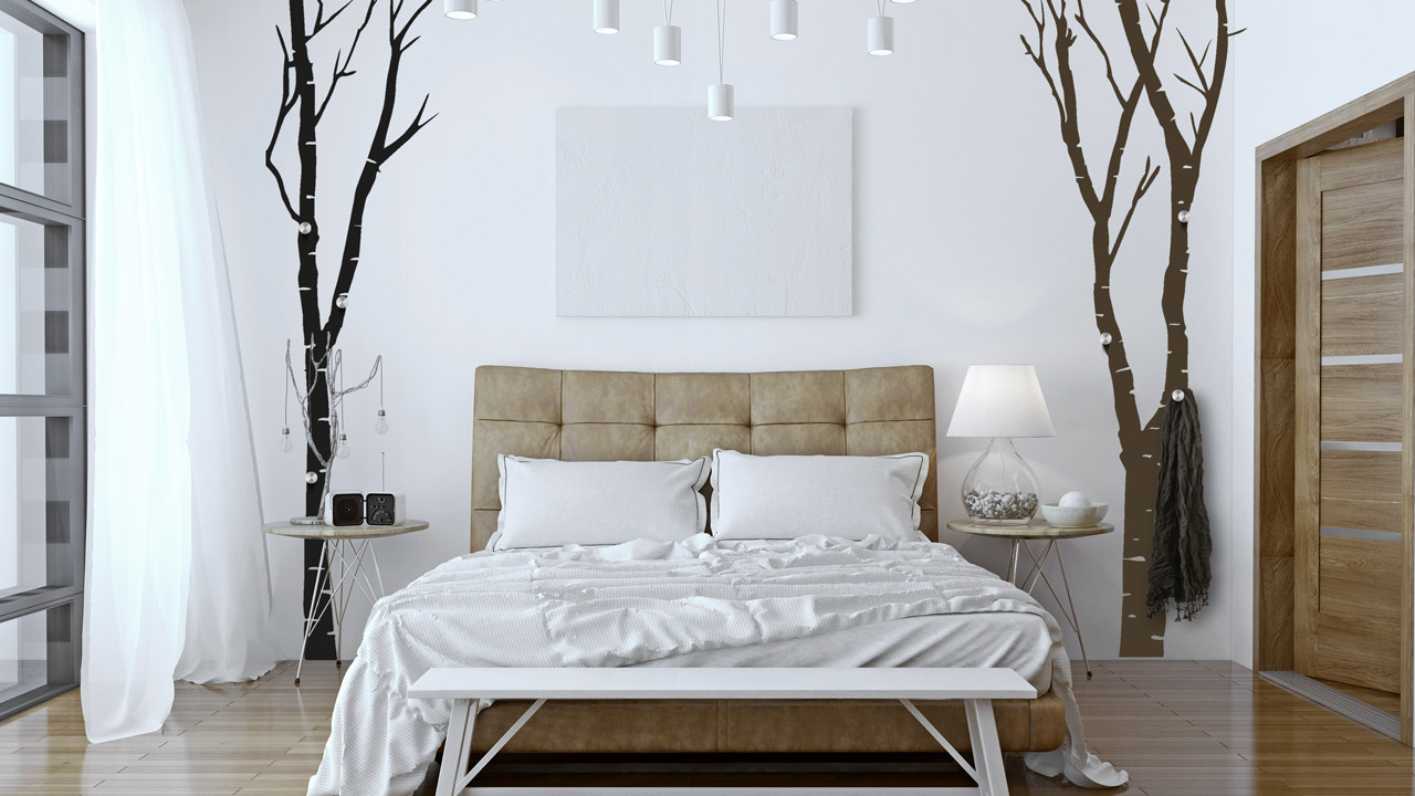 b ume an der wand dekoration mit wandtattoos. Black Bedroom Furniture Sets. Home Design Ideas