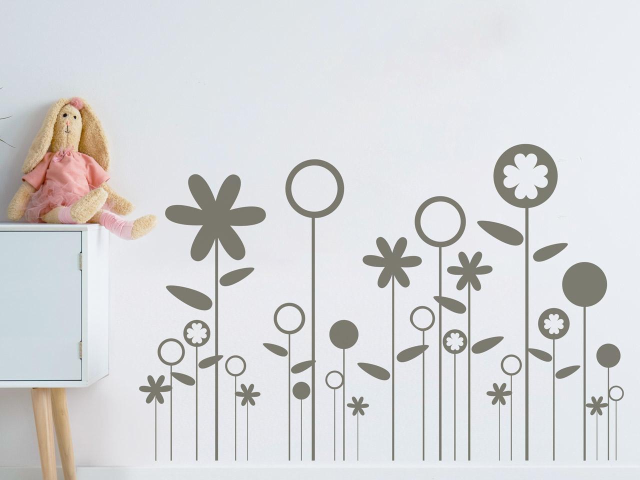 Ostern Wanddeko mit Blumen Wandtattoo