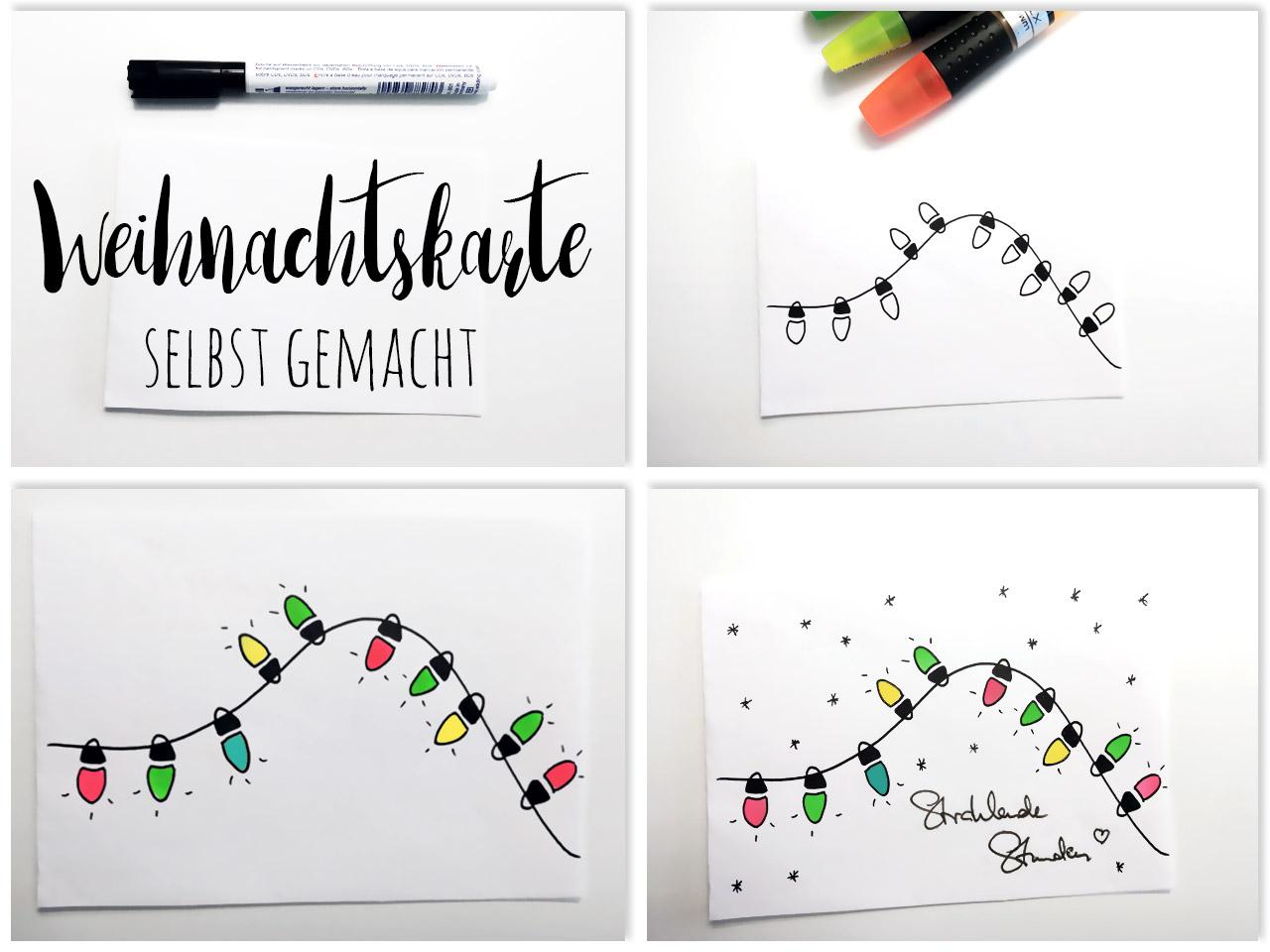 Weihnachtskarten Basteln Individuelle Weihnachtspost Selber Machen