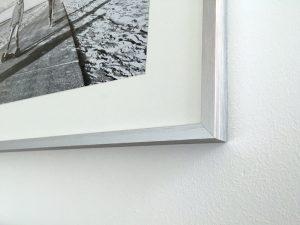 Aluminium Bilderrahmen mit Passepartout für Bilderwände