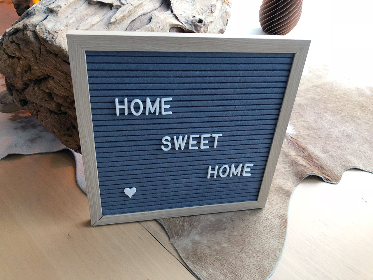 Memoboard mit Buchstaben Home Sweet Home